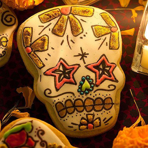 Dia de Muertos Sugar Skull Cookies