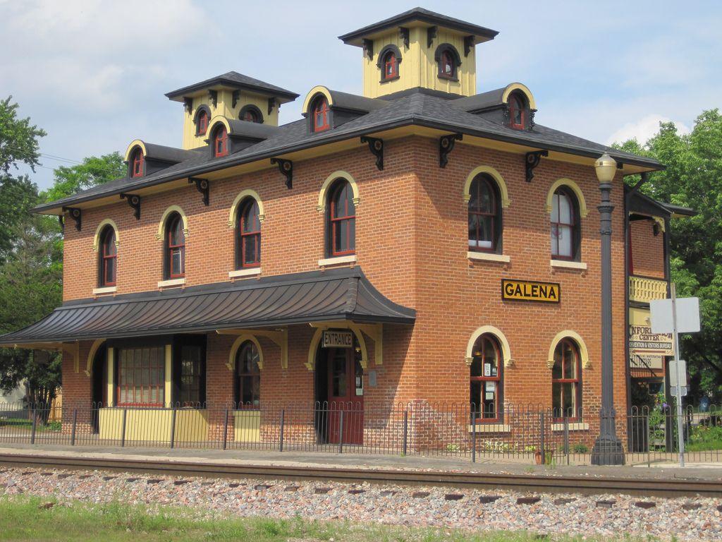 Galena, Illinois Central Railroad Depot Old train
