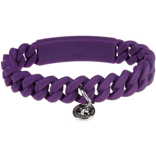 Marc By Marc Jacobs Bracelet ($23) ❤ liked on Polyvore featuring jewelry, bracelets, purple, marc by marc jacobs, rubber jewelry, marc by marc jacobs jewelry, marc by marc jacobs bangle and purple jewelry