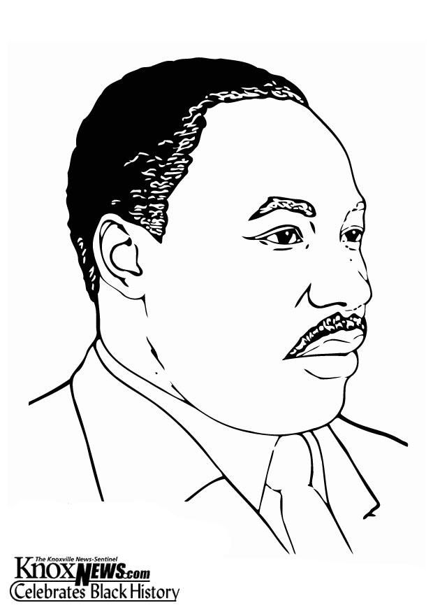 Coloring Page Martin Luther King Jr Img 13330 Black History Month Art History Icon Black History Month Crafts
