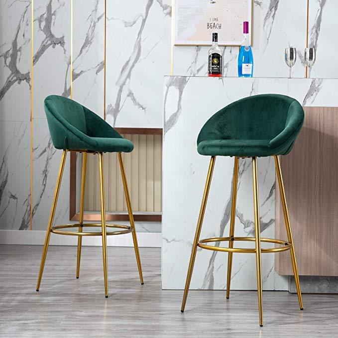 amazon chairus tufted kitchen bar height stools