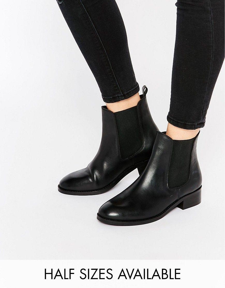 96f2e53ec088d9 Bild 1 von ASOS – ATTRIBUTE – Chelsea-Ankle Boots aus Leder