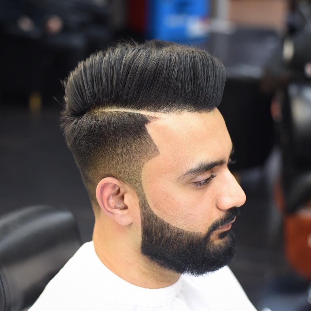 Modern pompadour beard - Modern Pompadour Hairstyle For Men 2017