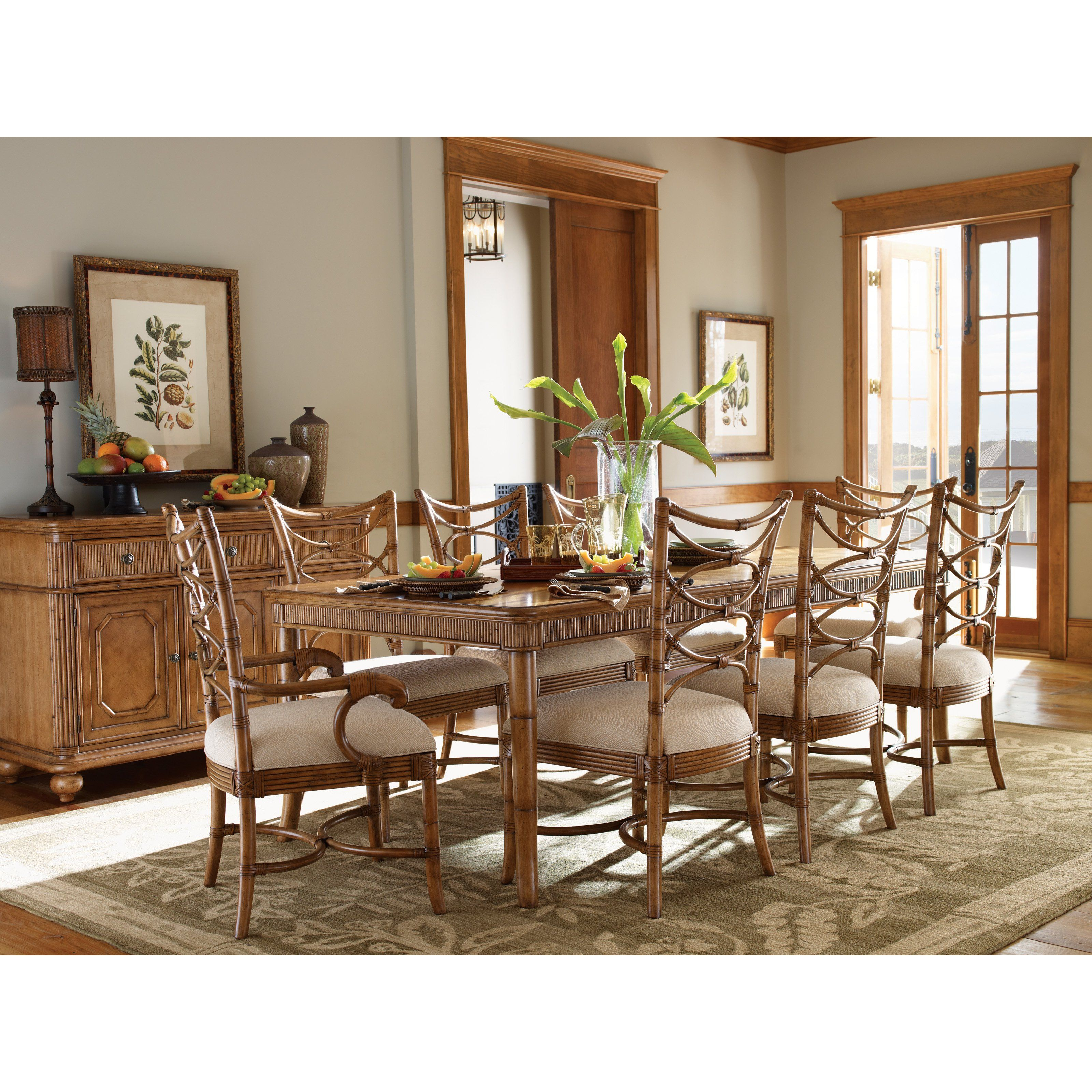 Tommy Bahama By Lexington Home Brands Beach House 9 Piece Boca Grande Dining Set 3160 Beach House Dining Room Dining Table In Kitchen
