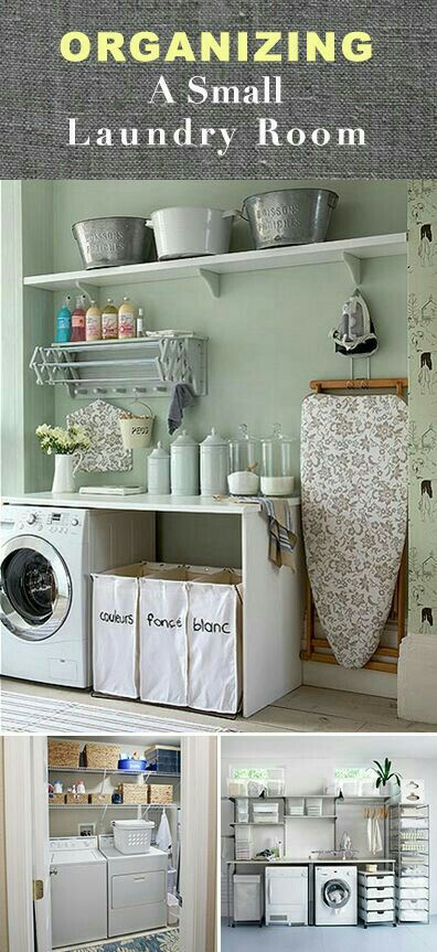 Organizing A Small Laundry Room Small Laundry Rooms Laundry