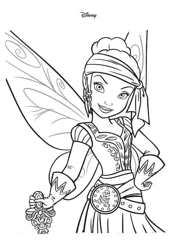 coloring page Tinkelbell Pirate Fairy Tinkelbell Pirate Fairy
