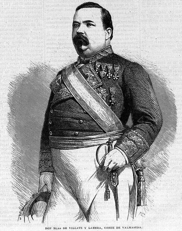 Españoles - Blas de Villate y de la Hera (Capitán General de Cuba entre los periodos de 1867, 1870-1872 y 1875-1876)