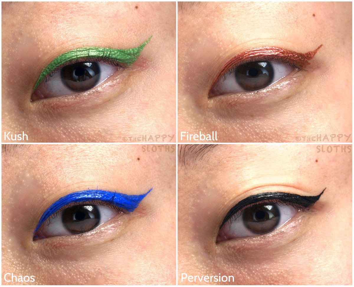 La Girl Line Art Matte Eyeliner Review : Urban decay razor sharp liquid eyeliner review and swatches