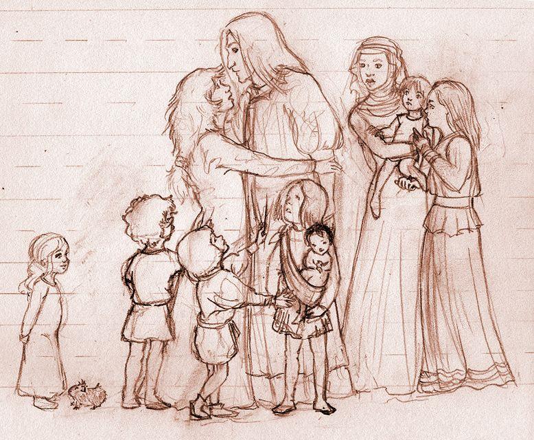 medieval family by Xanderlicous.deviantart.com on @deviantART