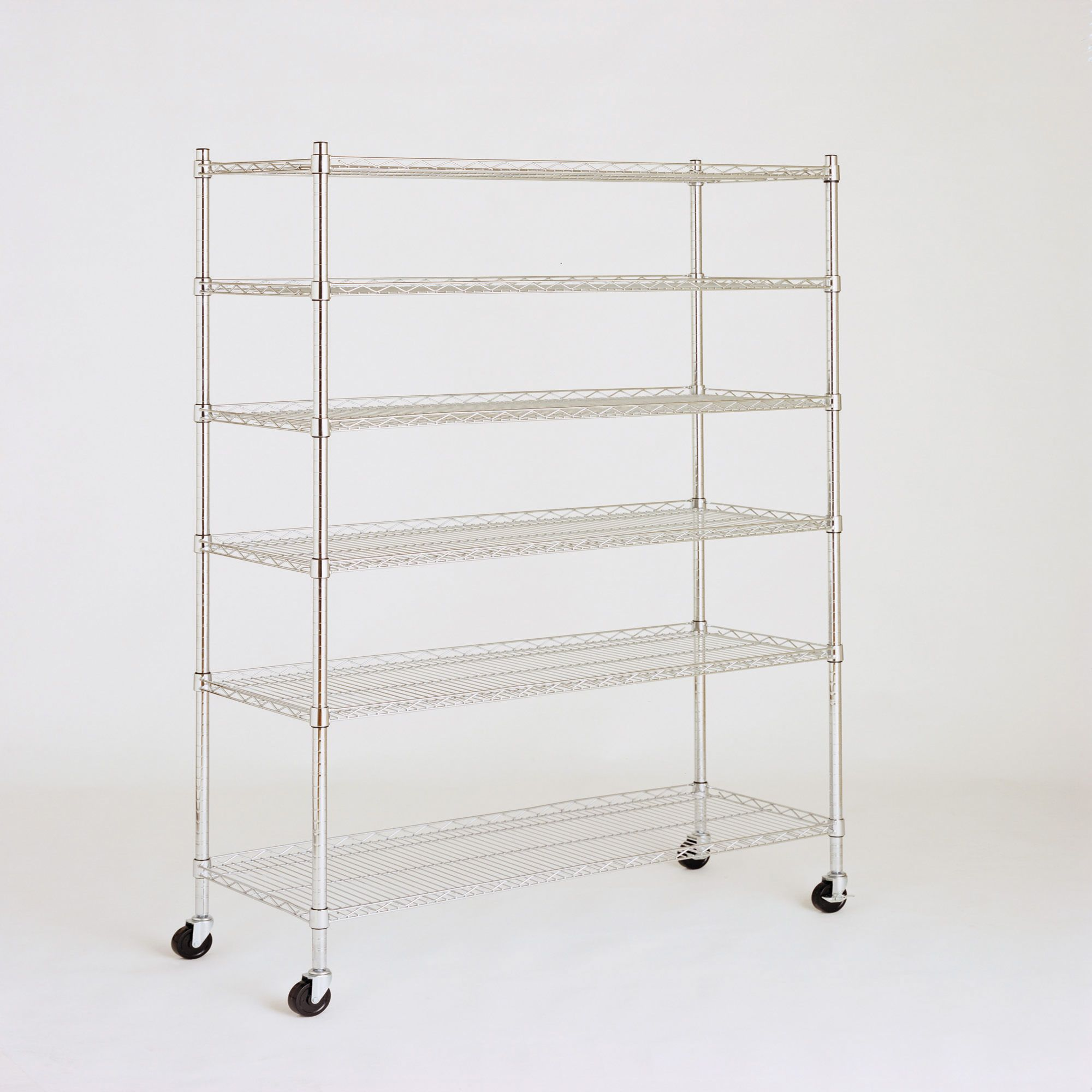 Living Home 48 6 Shelf Storage Rack Chrome Bjs Whole Club