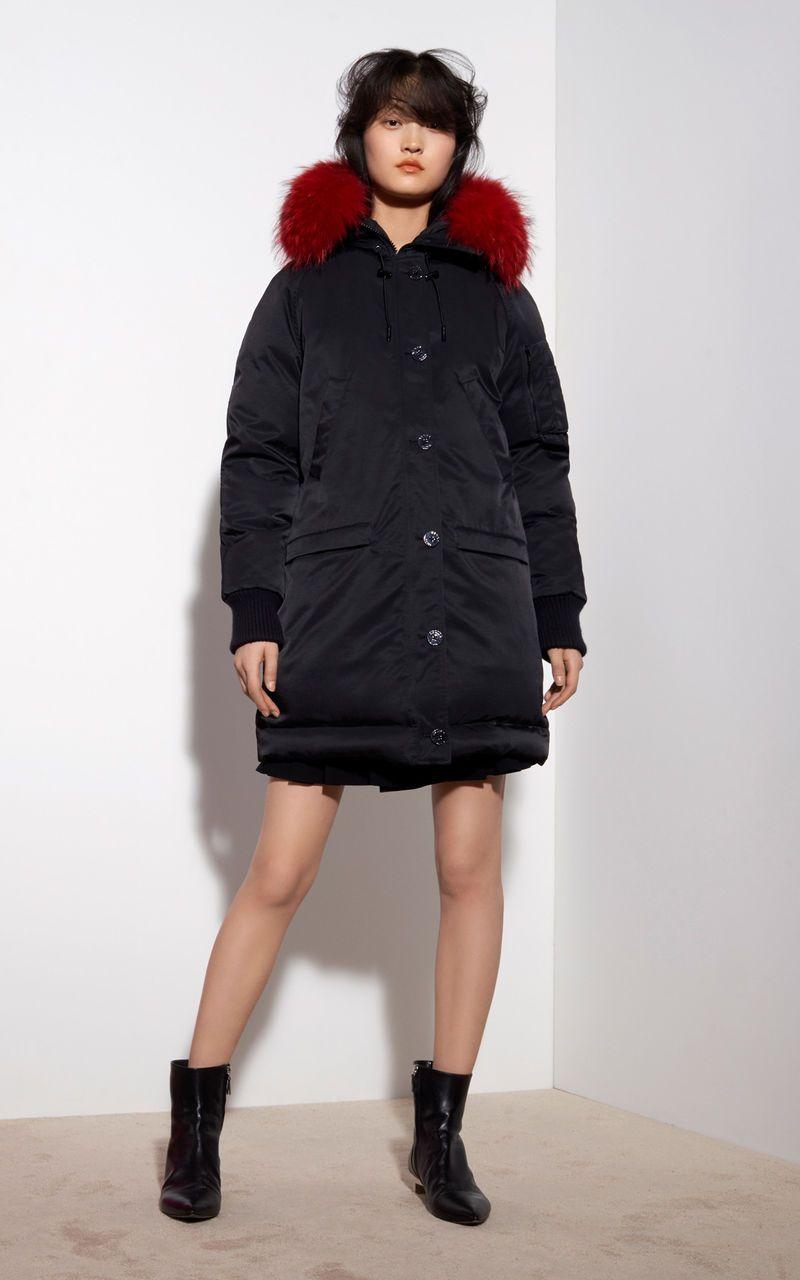 69fe2f0b Long Fur Parka, BLACK, KENZO | t h r e a d s | Parka, Winter jackets ...