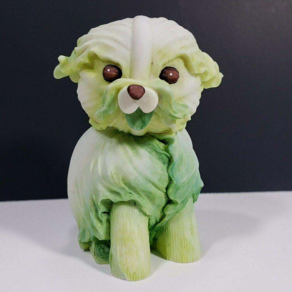 2004 Enesco Home Grown Cabbage Dog 4002362 Animal Figurines