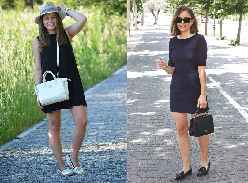 Un vestido negro se puede usar de dia