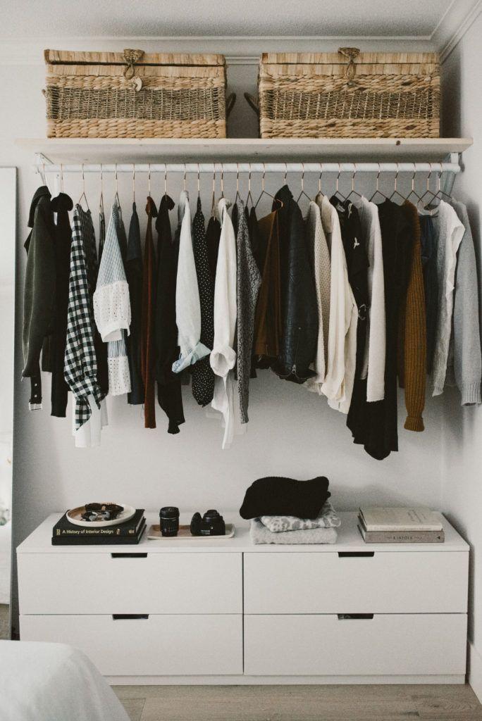 DIY Open Concept Closet - Alicia Fashionista #minimalclothing