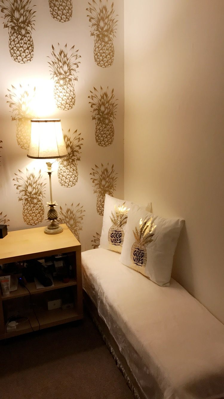 Pineapple bedroom pineapple cushions pineapple lamp Gold and cream
