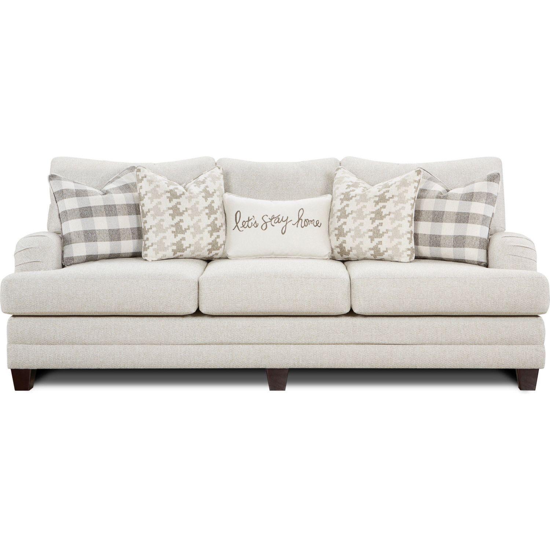 Southern Furniture 4480 Basic Wool Sofa Basic Wool Sofa Off White Fabric In 2020 Fusion Furniture Southern Furniture Sofa