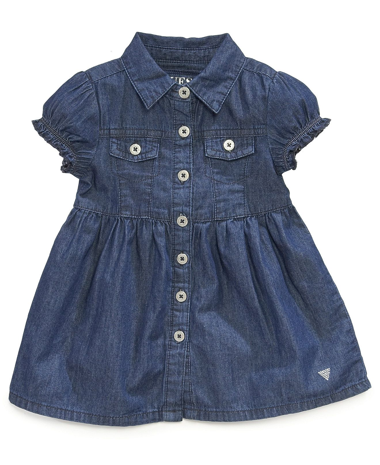 GUESS Baby Girls Denim Dress Kids Baby Girl 0 24 months