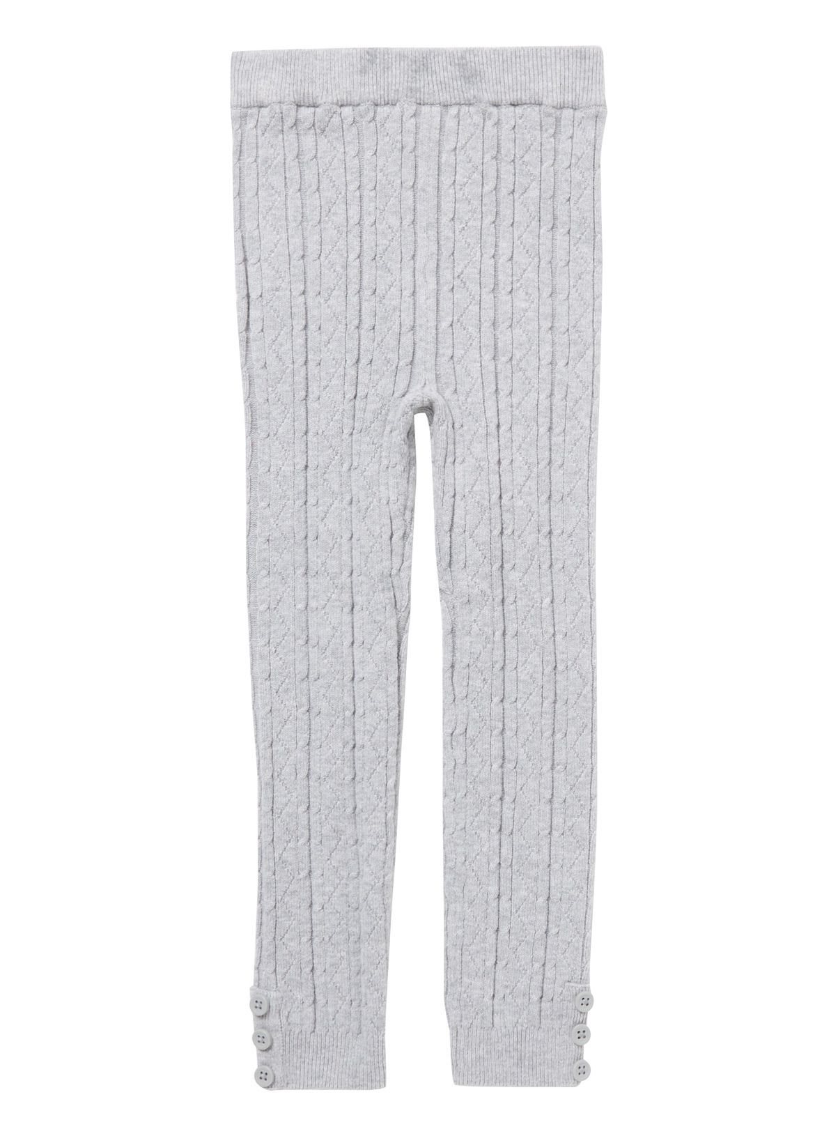 57a488f16f5428 Bolster their winter essentials with these classic cable knit tights. In  grey, they are
