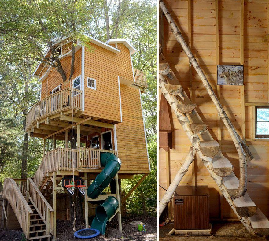Elegant Dieser Mann Baute Eine Erstaunliche Stöckiges Baumhaus Für Seine  Enkelkinder Badezimmer Wenn Sie Denken,