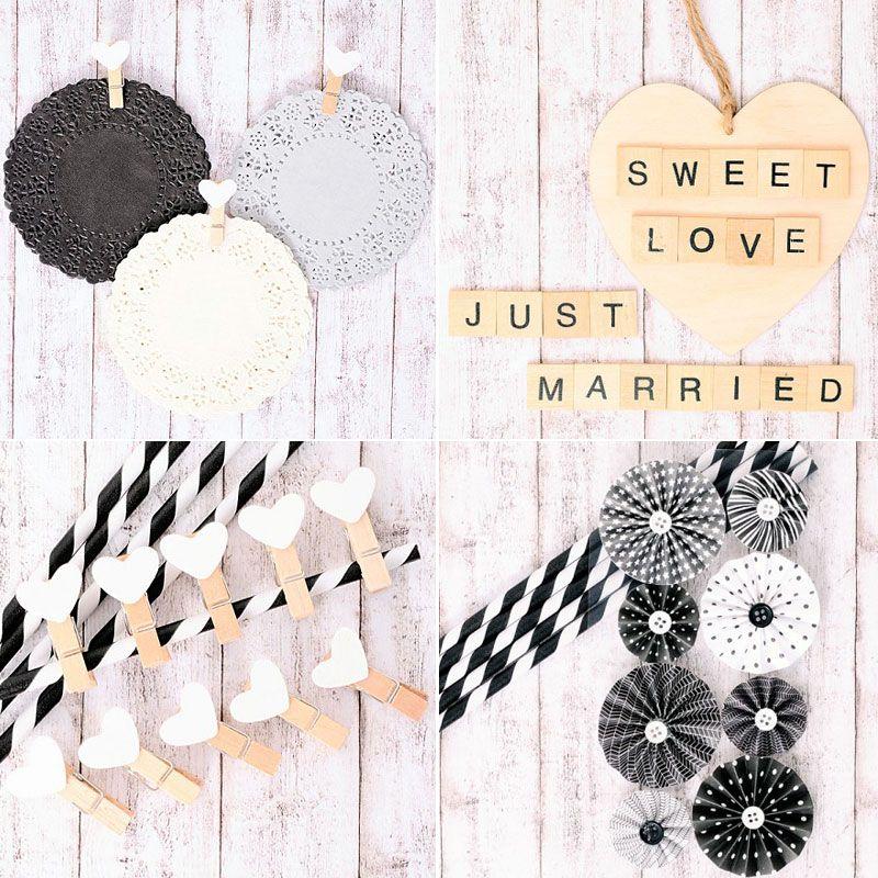 5 ideas para decorar con blondas en blanco y negro y - Papeles para decorar ...