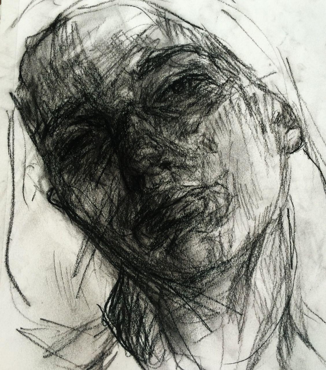 Elly Smallwood - Charcoal self portrait