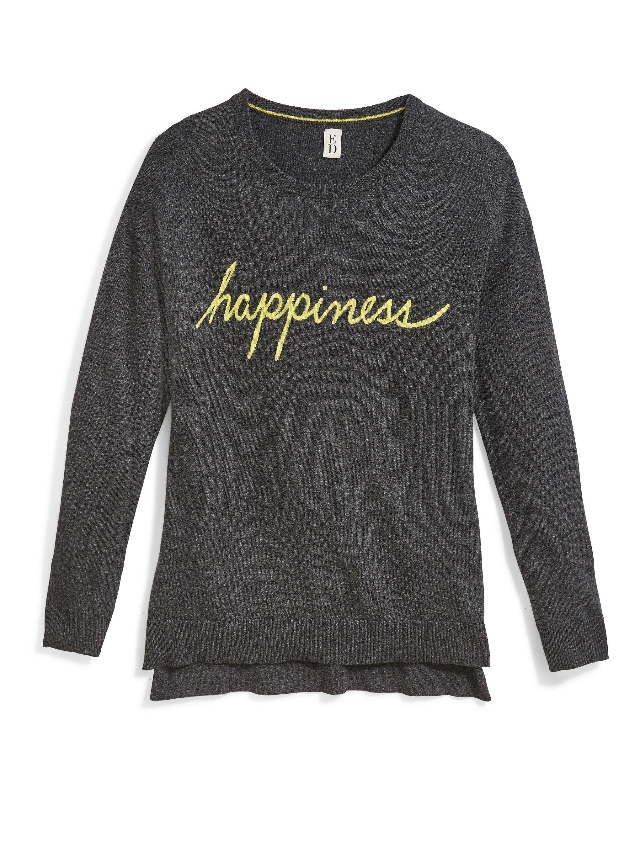 "Ellen s ""Happiness"" intarsia tunic sweater Wish List"