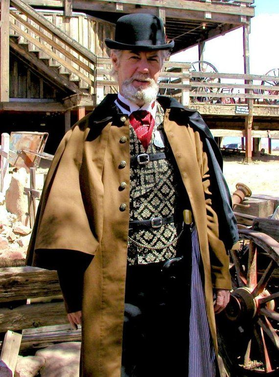 Mens Inverness Coat Sherlock Holmes Steampunk Jacket Victorian Twill