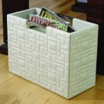 Quilted leather organizer for mail