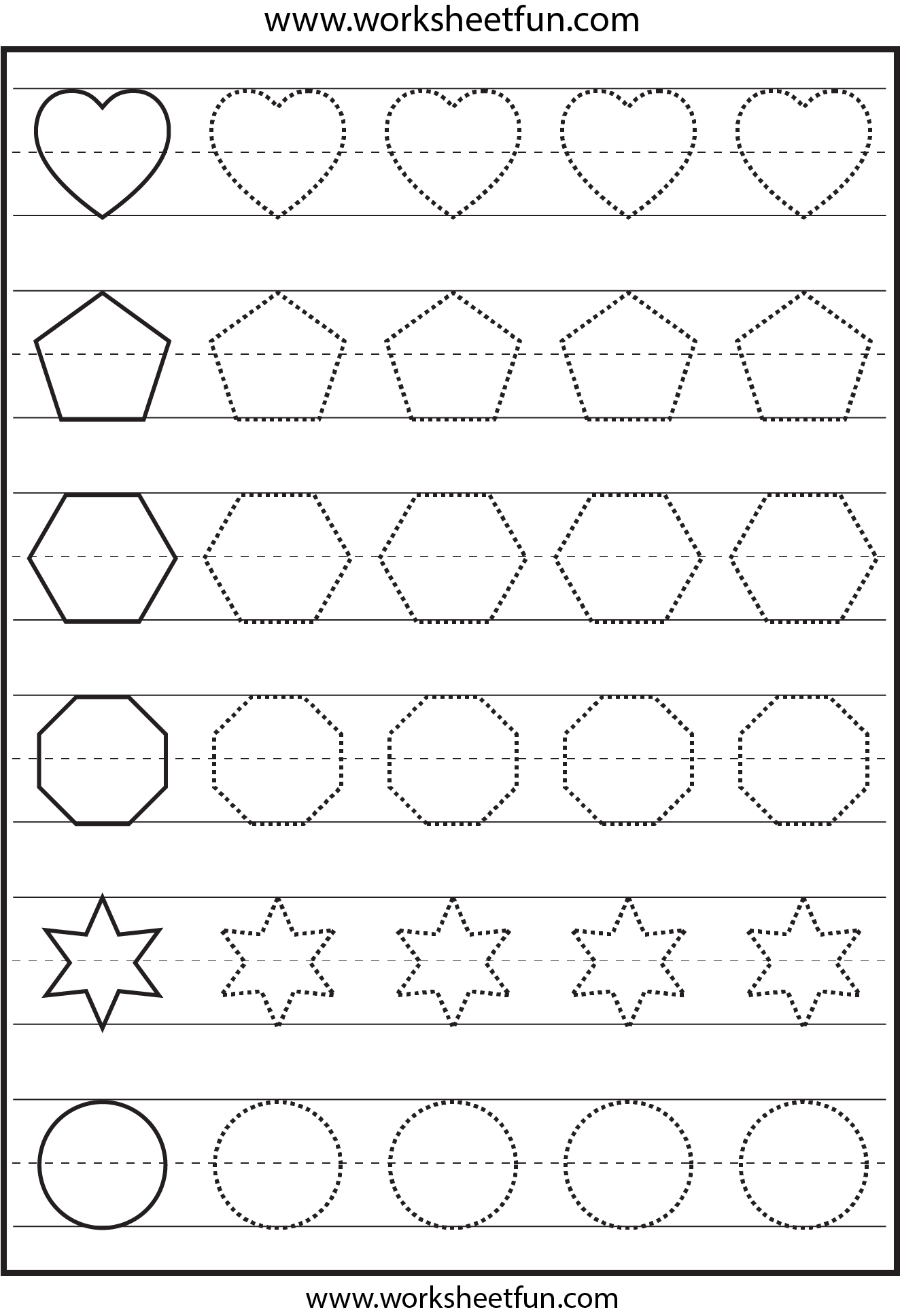 Worksheets Tracing Shapes Worksheets 1000 images about tracing worksheets on pinterest fine motor alphabet and preschool
