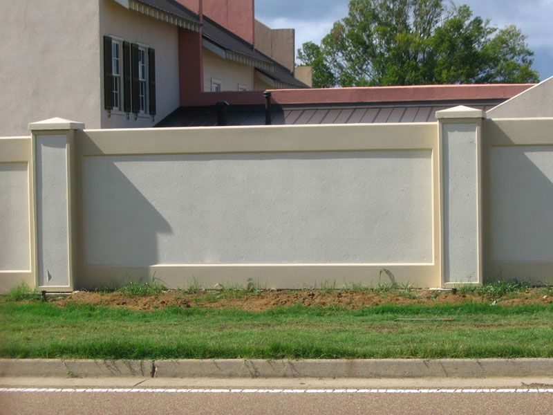 Stucco Fences Image Search Results  Ideas for the House in 2019  Concrete fence wall, Fence