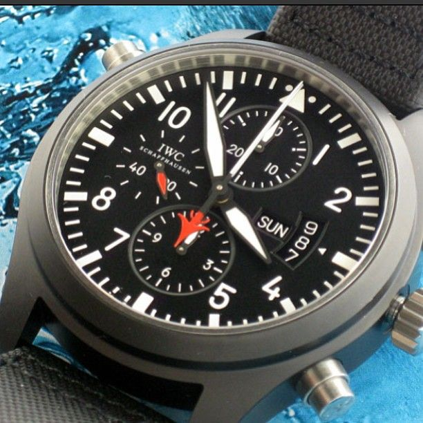 IWC Pilot Top Gun Chronograph #IWC #IWCPilot #IWCTopGun #Chronograph #watch #LUXURYwatch
