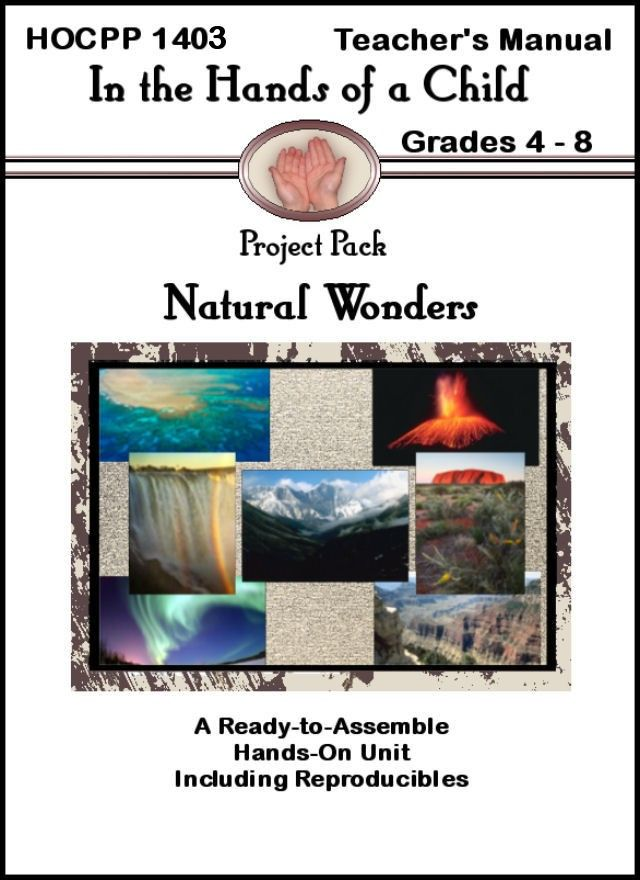 Natural Wonders Project Pack from In the Hands of a Child, a company well-known for their lapbooks. See a lapbook sample and how this home schooler used Natural Wonders of the World Lap Book
