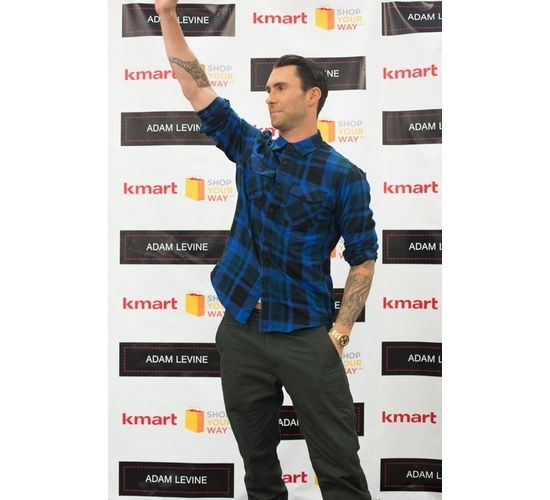 Adam levine appears for meet and greet at la kmart for his fashion adam levine appears for meet and greet at la kmart for his fashion line maroon 5adam levinemeet m4hsunfo