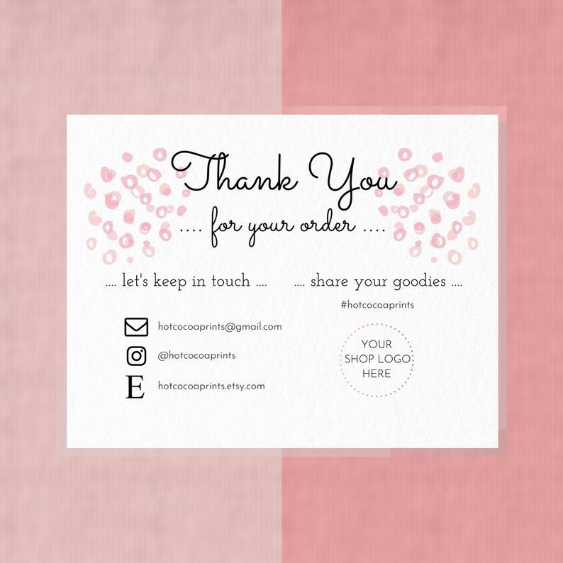 get 42 get template thank you card small business
