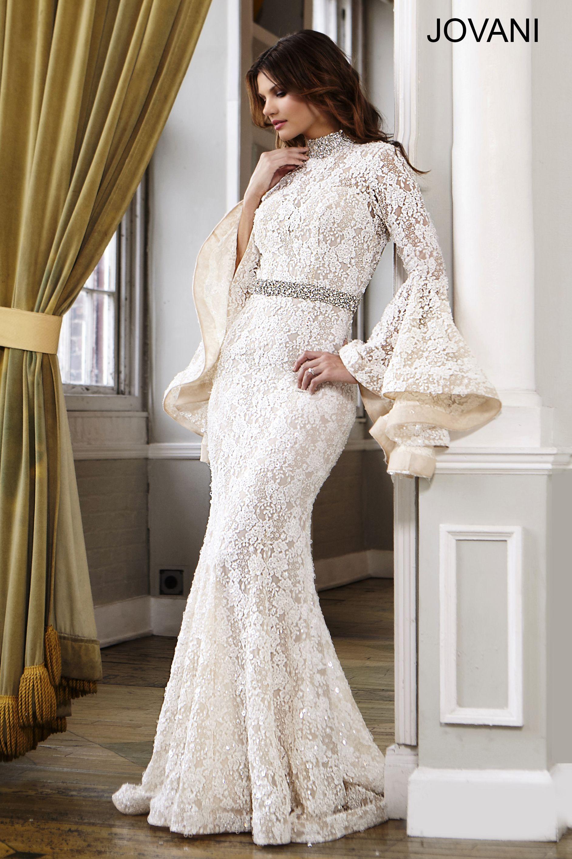 Bell Sleeve Wedding Gown 22201   Unique Wedding Dresses   Pinterest ...