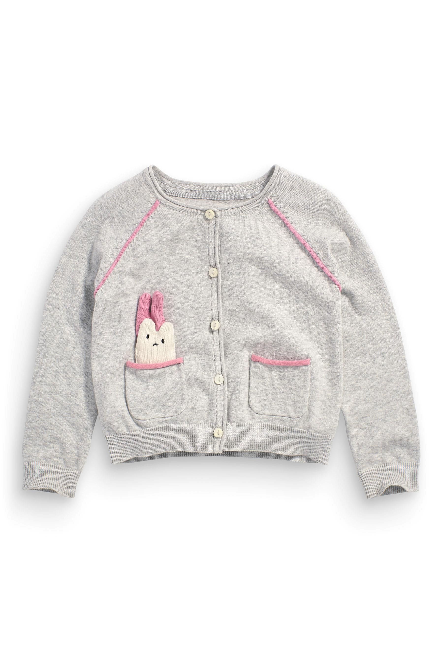 Buy Grey Patch Cardigan (3mths-6yrs) from the Next UK online shop ...