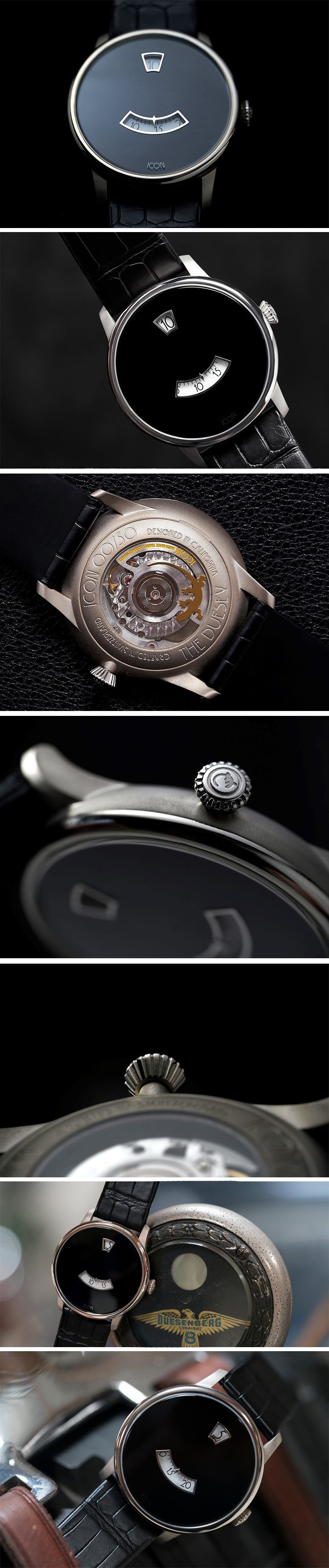 The Icon Duesey Watch looks beautiful, but it also looks familiar to some. If you're wondering why, it's because the watch takes direct inspiration from the original Duesenberg tachometer. The watch comes built in a grade 2 titanium body with a sandblasted finish and a grade 5 titanium bezel that holds together a double domed sapphire crystal. BUY NOW!