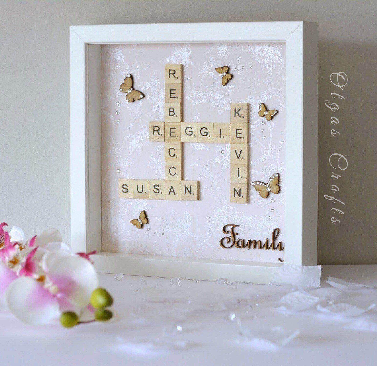 Family Scrabble Frame ,Scrabble Art, Gift for Christmas Wedding ...