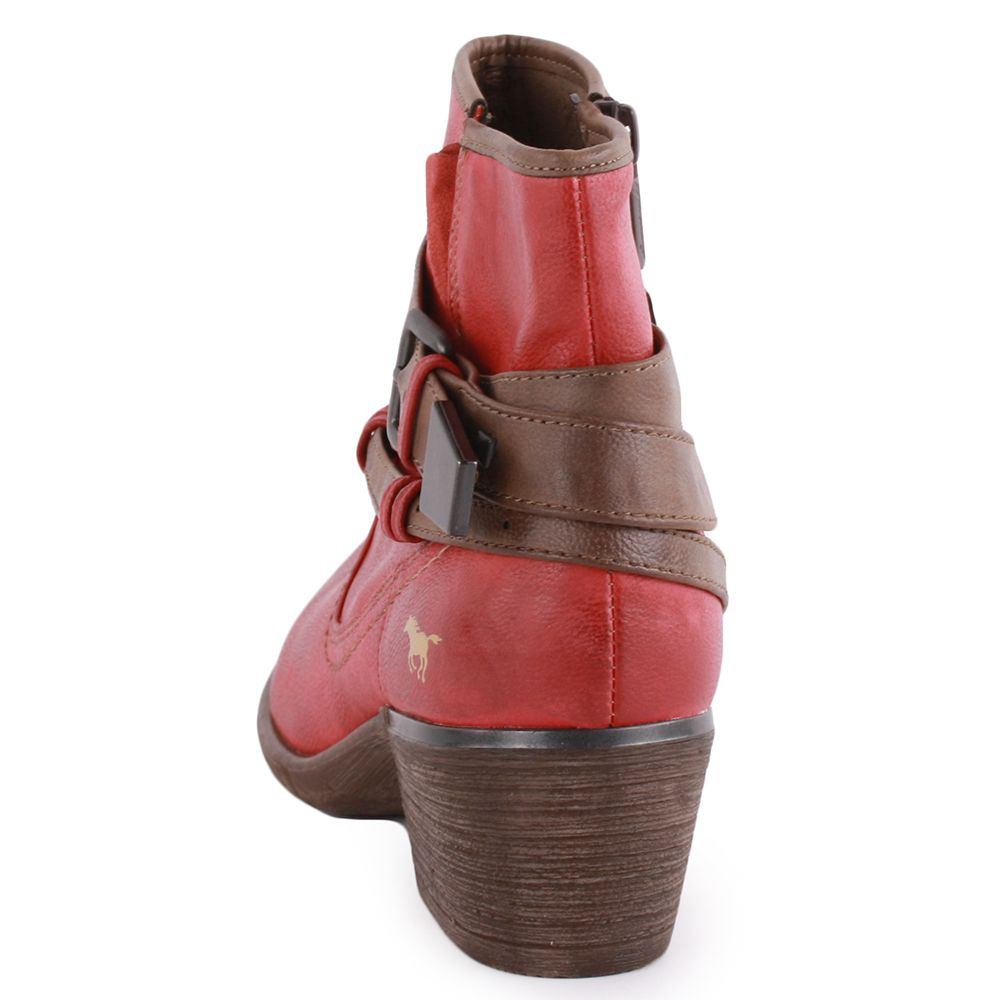 50558600dbd Mustang 1166-501-5 Women s Synthetic Ankle Boots in Red