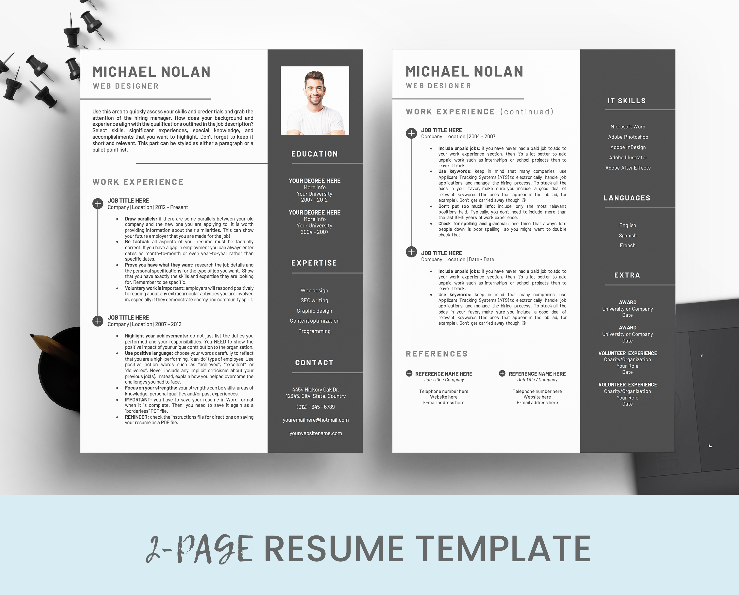 Curriculum Vitae for Word Instant Download Resume with