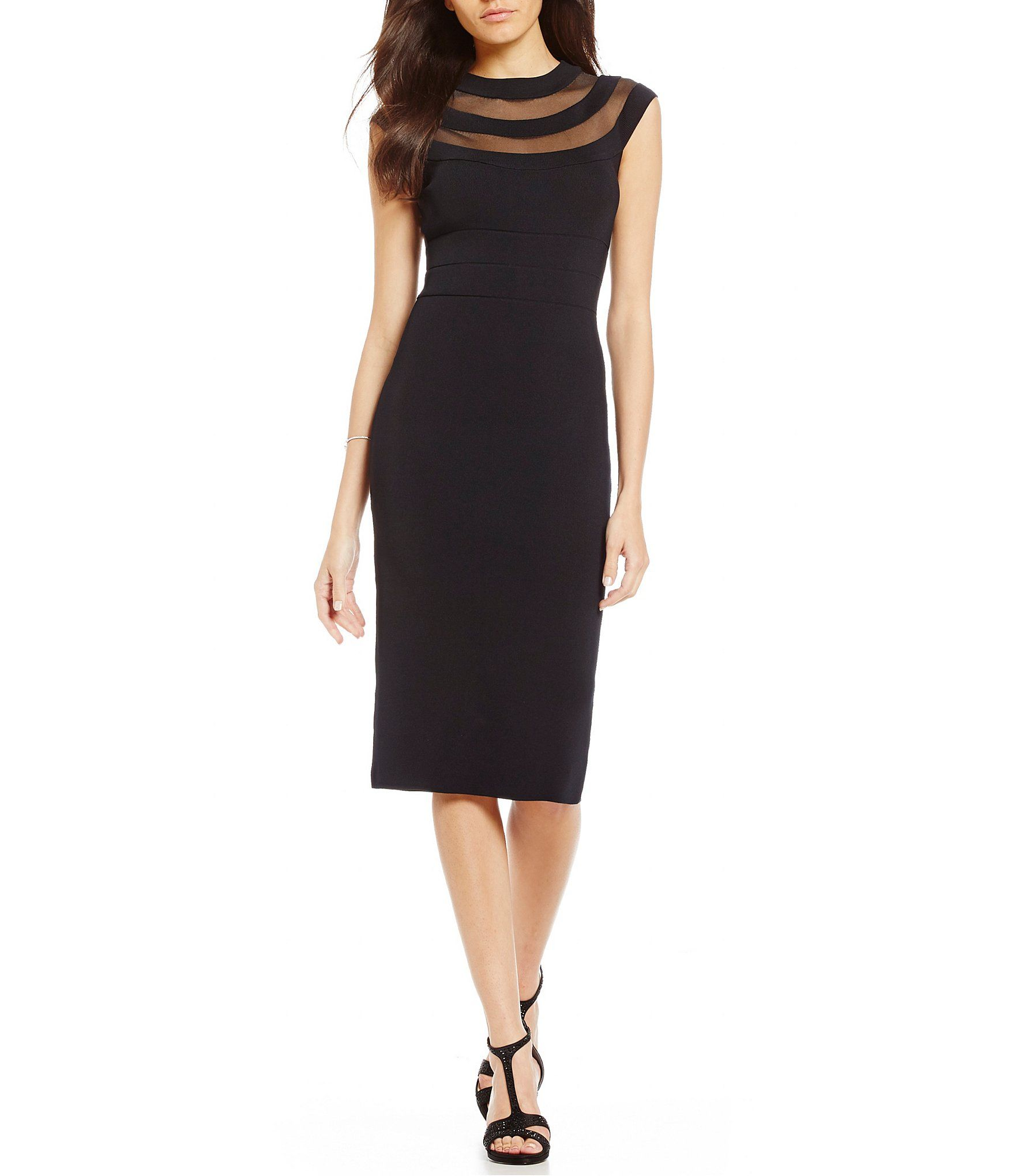 Shop for eliza j mesh inset sheath dress at dillards visit