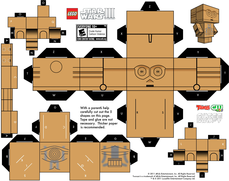 free printable 3d papercraft templates telecharger le jpg download voir le tutoriel sur. Black Bedroom Furniture Sets. Home Design Ideas