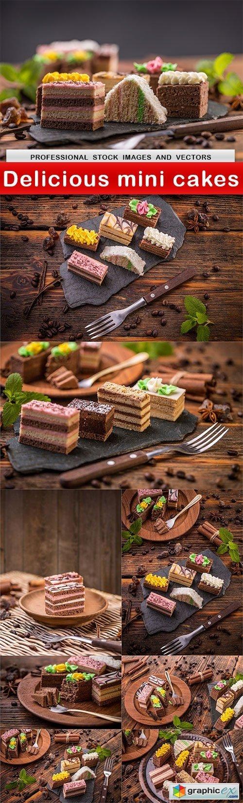 Delicious mini cakes  9 UHQ JPEG  stock images