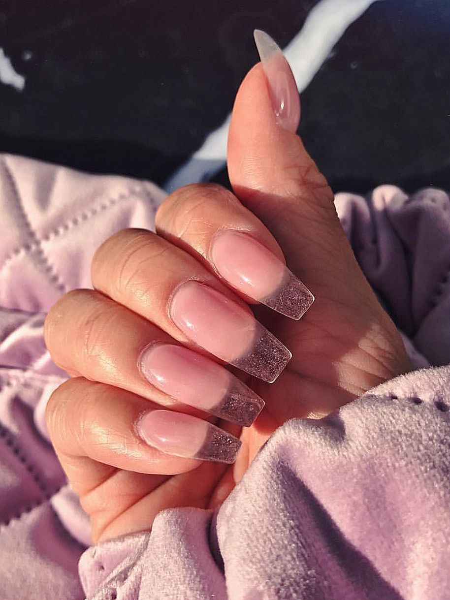 Pink Gel Like Transparent Acrylic Nails Naildesign Pink Nails Nails Nail Designs Nail Inspo
