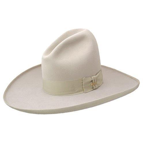 c3f6e1b855a2b Stetson Tom Mix cowboy hat with pencil roll brim and wide grosgrain ribbon.