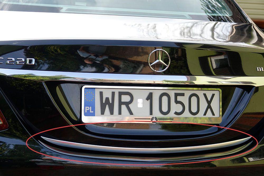 Mercedes Benz C Klasse W205 Chrom Zierleiste Heckleiste Heckklappe Chromleiste Vehicles Car