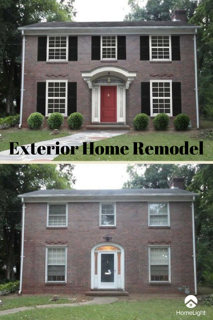 Home renovation before and after exterior home remodel looking for some home renovation inspiration take a look at this exterior remodel