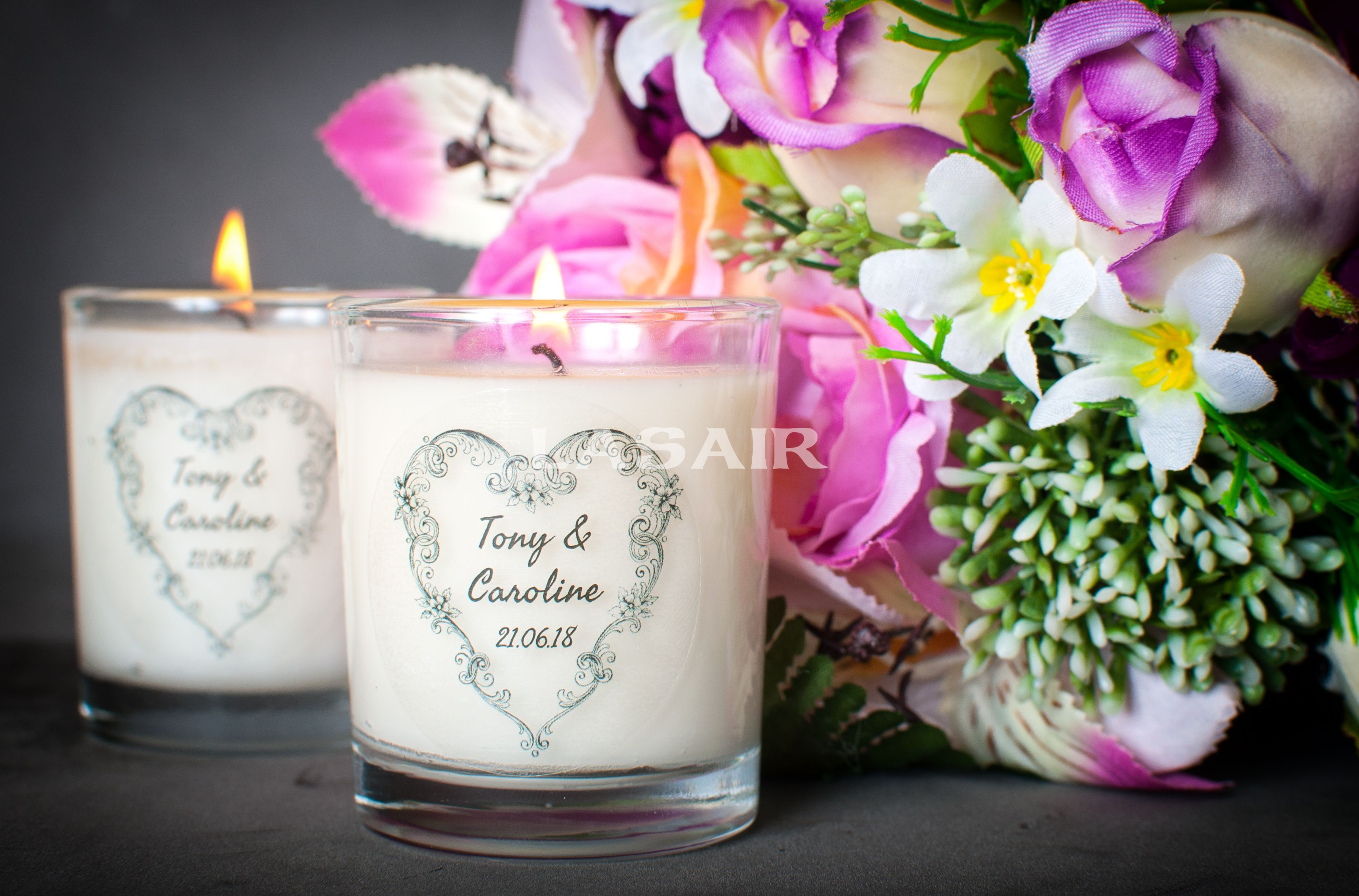 Personalised Wedding Favour Candles | Pinterest | Personalized ...