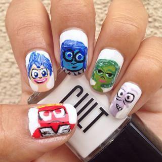 bee87e8bd185 Pixar s Inside Out Nails! ✨ Sadness