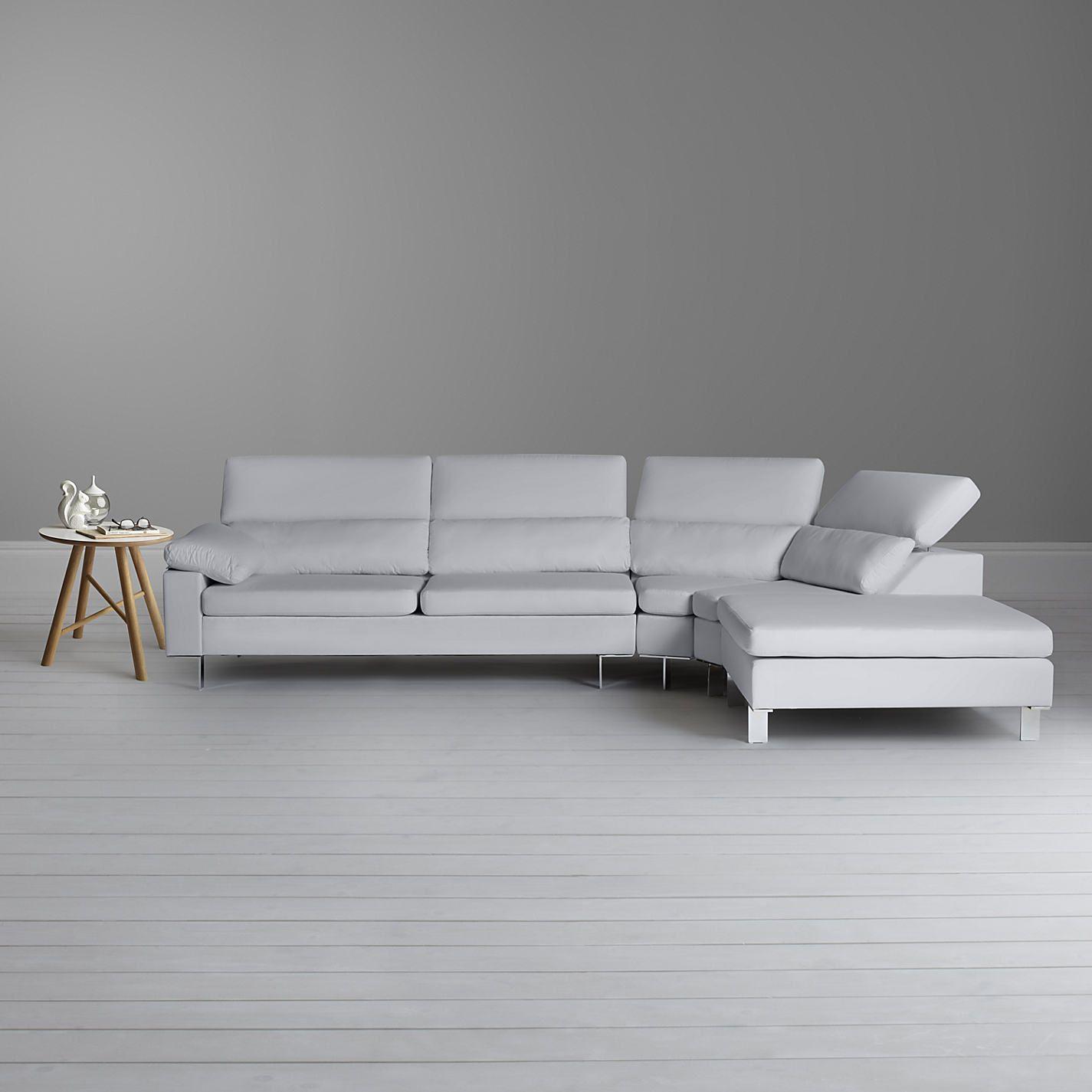John Lewis Baccara Rhf Small Semi Aniline Leather Corner Sofa Nature Putty Leather Corner Sofa Corner Sofa Sofa